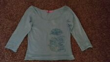MNG JEANS AQUA 3/4 SLEEVE TOP SIZE S