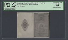 Hong Kong & Shanghai Corp Letter of Introduction 19*(ca1948) Photograph Proof