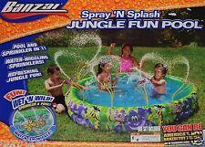 Banzai Spray 'N Splash Jungle Fun Pool Water Wiggling Sprinklers Age 3 + Nib