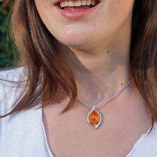 BAILYSBEADS Feueropal /& Mandarin-Granat Ohrringe Ohrhänger neu 3441