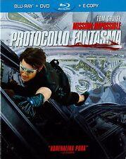 Blu Ray • SLIPCASE Mission Impossible 4 Protocollo Fantasma TOM CRUISE ITALIANO