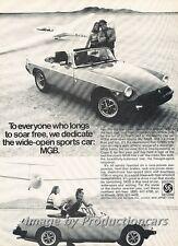 1976 1977 MG MGB Original Advertisement Print Art Car Ad H68
