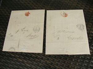 DR Lot Vorphila-Briefe Darmstadt Ober-Finanz-Kammer 1844-45 nach Echzell 2 Stück