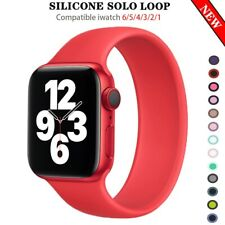 Solo Loop Strap i Watch Silicone bracelet watchband for 5 4 3 2 SE series