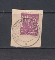 SBZ Mi.-Nr. 40y a gestempelt auf Briefstück - geprüft Kramp BPP