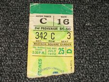 7/25/72 Rolling Stones at Madison Square Garden Ticket Stub Matinee Show