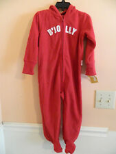"""Nwt Oshkosh boy red hooded full zip footed coverall w/""""B'Jolly"""" ; size 3m"""