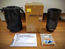 Nikon 55-200mm Zoom Telephoto VR Lens F/4-5.6 SWM AF-S DX ED