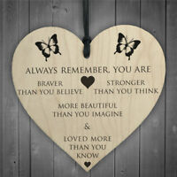 always remember you are diy wooden heart plaque wine tags hanging signs decor FL