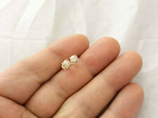 0.96Ct Genuine Natural Untreated Diamond Stud Earrings In Solid 14K Yellow Gold