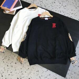 Burberry 21SS Plaid Shirt Crew Neck Sweatshirt