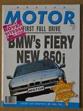 Modern Motor Jul 1990 BMW 850i, K1, 535i, Holden Caprice 5.0 V8 Lexus LS400