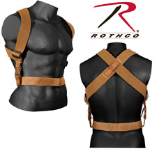 Combat Suspenders Tactical Adjustable Rothco 49194 Coyote (Belt sold separately)