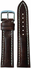 22x18 XL RIOS1931 for Panatime Burnt Maroon Watch Strap w/Buckle for Breitling