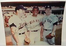MICKY MANTLE ,WILLIE MAYS AND HARMON KILLEBREW AUTOGRAPHED PHOTOGRAPH