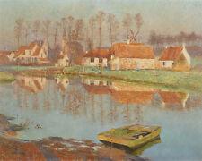 The Village Of Deurle Emile Claus  24' CANVAS