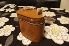 Wood & Vegan Leather Crossbody Bag Purse Cigar Box Cylinder Upholstery Vtg style