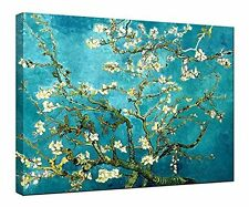 Wieco Art Canvas Print for Van Gogh Oil Paintings Almond Blossom Modern Wall