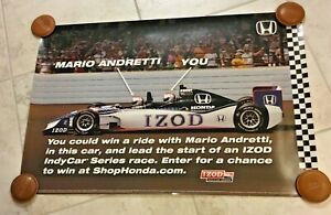 Indianapolis Indy 500 MARIO ANDRETTI Honda Two Seater POSTER New!