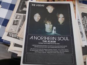 THE VERVE A NORTHERN SOUL  RELEASE COLLECTORS ITEM POSTER 1995 FRAMIN
