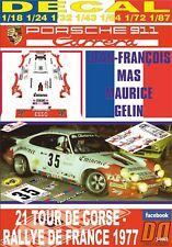 DECAL PORSCHE 911 CARRERA J-F. MAS TOUR DE CORSE 1977 DnF (06)