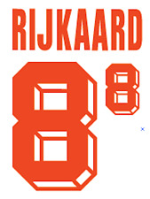 HOLLAND RIJKAARD NAMESET 1992 SHIRT CALCIO Numero Lettera di calore stampa football un