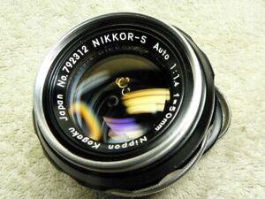 NIKON Nippon Kogaku Nikkor-S 50mm f/1.4 Manual Prime Lens w/ Caps. F FE FM F2