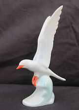 VINTAGE HOLLOHAZA HUNGARIAN PORCELAIN BIRD FIGURINE