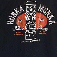 Daddy-O's Hunka Munka Island Tiki Lounge Bar Men's Lg Bowling Shirt Alameda