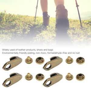 Metal Alloy Lace Hook Shoelace Buckle Repair Camping Hiking Boots Non Slip