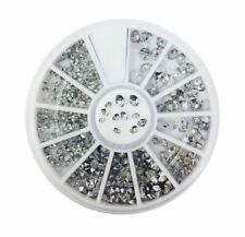 Nail Art Rhinestone 3D Glitter Gems Decoration Crystals Pearls Beads UK