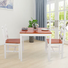 Pine Dining Table and 4 Chairs Set Wooden Kitchen Dinning Rome Furniture Honey
