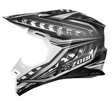 ZOAN SYNCHRONY MX HELMET MONSTER GLOSS BLACK/SILVER/WHITE TC5 XL PART# 521-147