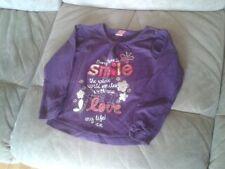 Girls 2 Years - Purple Long Sleeved Top, 'Smile' logo - Adams