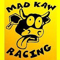 Mad Kaw Racing BLACK cow decals stickers ninja klr 650 250 bull zx 6 10 300 r kx
