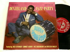 BOBBY DONALDSON Dixieland Jazz Party Rex Stewart Vic Dickenson Savoy RVG dg LP