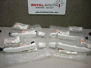 Toyota Tacoma 10-15 Double Cab Super White Painted Door Handles Genuine OEM OE