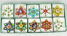 10 Pcs Wholesale Cloisonne Christmas Snowflake Ornament