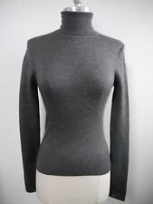 NEW MICHAEL KORS COLLECTION $850 cashmere and silk gray turtleneck sweater sz S