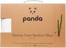 Panda Luxury Memory Foam Bamboo Pillow - White