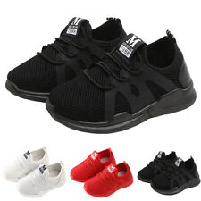 UK Kids Boys Girls Breathable Trainers Running Sports Shoes School Mesh Sneakers