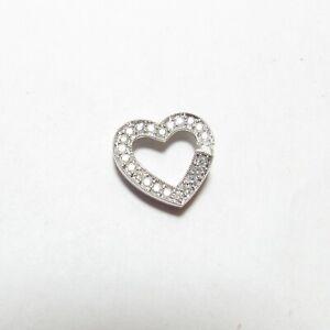 SIMON GOLUB & SONS 14K White Gold Brilliant Cut Diamond Heart Pendant 0.40 Cts