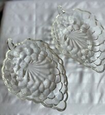 Vintage Clear Glass Grape Dishes  (2)