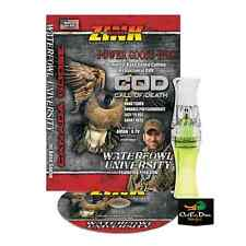 NEW ZINK CALLS COD CALL OF DEATH LEMON DROP POLY CANADA GOOSE CALL W/ DVD