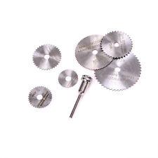 7Pieces/set Cutoff Circular Saw HSS Rotary Blades Tool Cutting Discs MandrelM&C
