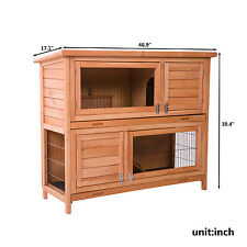 Merax Chicken Coop Rabbit Hutch Wood House Pet Cage for Small Animals