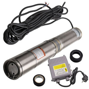 """4"""" 370W temperature max 35 ° C Deep Well Submersible Water Pump 6000 l / h"""