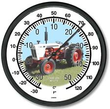 """New Rc Case Model 885 Tractor Wall Thermometer 10"""" Round Years 1974-1975"""