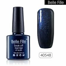 BELLE FILLE Nail Polish Soak Off UV LED Gel Base Top Coat Manicure UV 79 Colors