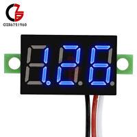 5PCS DC 0-30V 3-Wires 0.36 inch LED Panel Voltage Meter 3Digit Display Voltmeter